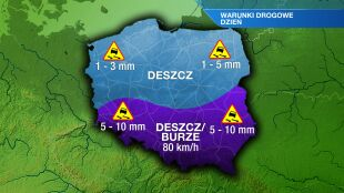 W całej Polsce na drogach będzie ślisko
