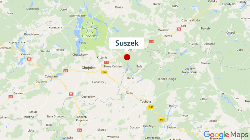 Położenie Suszka