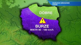 Uwaga na burze w zachodniej Polsce