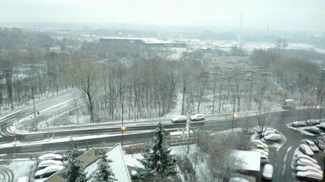 Śnieg w Gliwicach