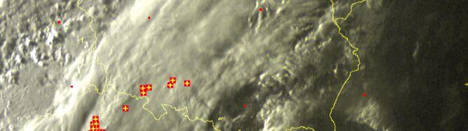 Znad Czech nadciągnęły chmury burzowe. Grzmi na Śląsku