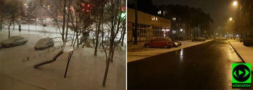 Czapy śniegu na Suwalszczyźnie. Śnieg też w innych regionach