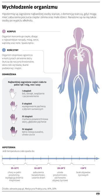 Wychłodzenie organizmu (Maria Samczuk, Adam Ziemienowicz/PAP)