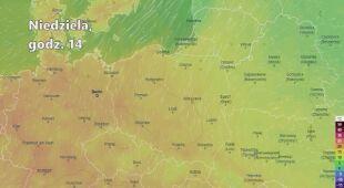 Prognozowana temperatura w kolejnych dniach (Ventusky.com | wideo bez dźwięku)